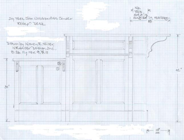 reception desk woodworking plans