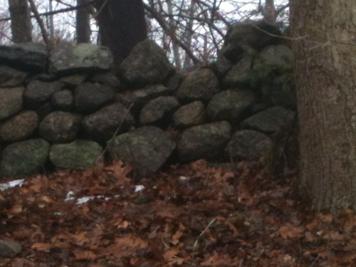 Granite wall in Connecticut