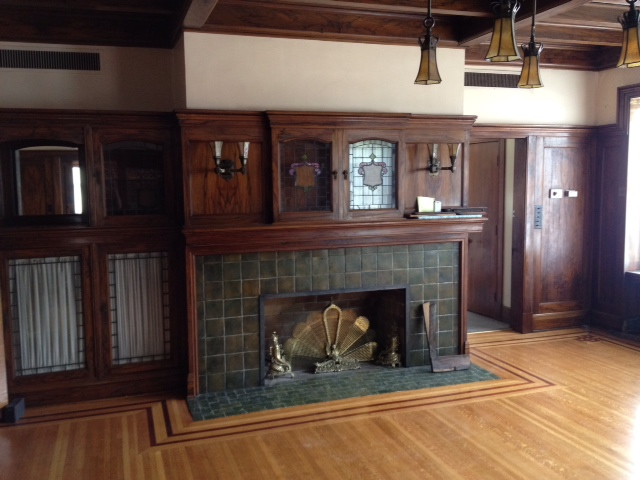 Tudor revival making things work for Tudor style fireplace