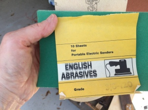 This pack of sandpaper has been in my mother's collection since the 1980s, when such items were still being manufactured in England