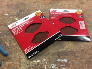 Cut strips of self-adhesive abrasive paper and stick to can