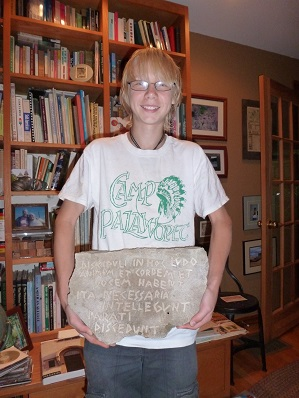 Jonas with carving for blog