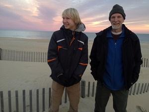 Mark and Jonas at the beach - Copy