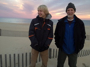 Mark and Jonas at the beach - Copy