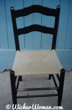 The first seat Peters wove
