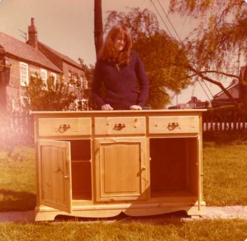 Nancy with Welsh dresser base 1980